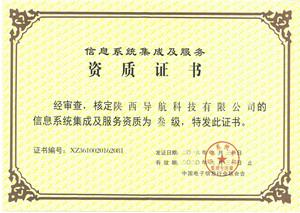 <p> 信息系统资质证书 </p>