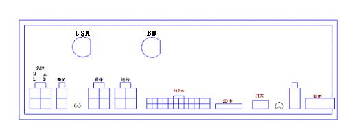 (DH-210B 后盖接口定义图示)